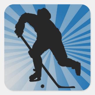 hockeyklistermärke fyrkantigt klistermärke