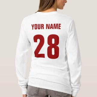 Hockeymammanamn & numrerar tillbaka t-shirt
