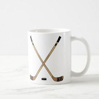 Hockeypinnar och Puck Kaffemugg