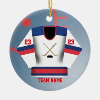 HockeyspelareJersey prydnad Julgransprydnad Keramik