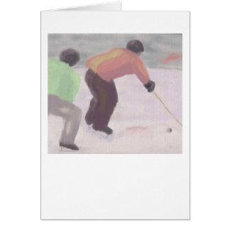 Hockeytävling, hälsningkort hälsningskort