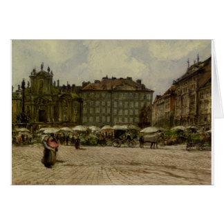 Hof kyrka i ‹Wien för †av Rudolf von Alt Hälsningskort