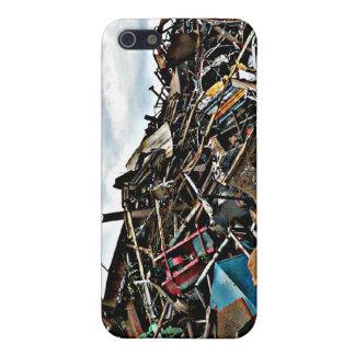 Hög av metallskräp för återvinning iPhone 5 cases