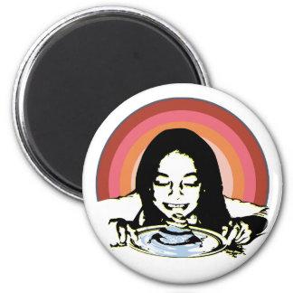 Hög av pannkakamagneten magnet