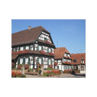 Hög deffotografi av Alsace frankriken Canvastryck