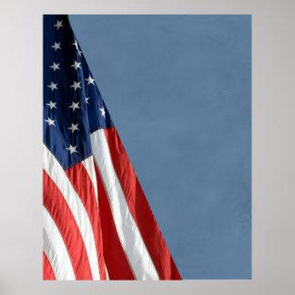 Hög KOMPAKT FOTOBAKGRUND för Res - US-flagga Poster
