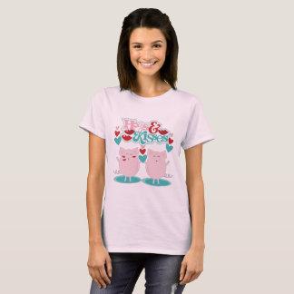 Hog och kyssar t-shirts