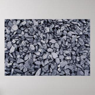 Högen av kol som grävas för en tid sedan från poster