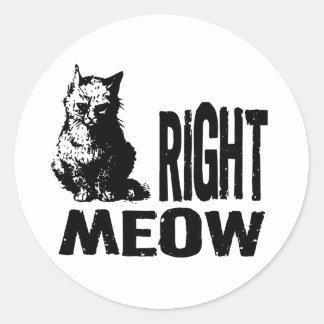 Höger JAMAR! Rolig ond kattunge Rund Klistermärke