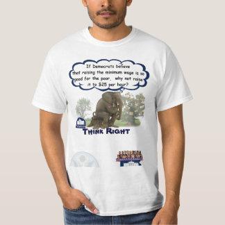 Höger tänka…, På den minimum timpenningen Tshirts