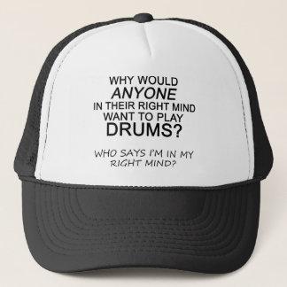 Höger varar besvärad trummar keps