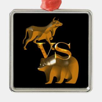 Högkonjunkturen Vs björn marknadsför Julgransprydnad Metall