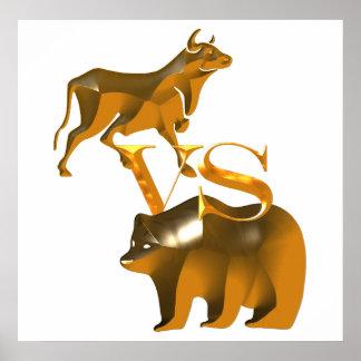 Högkonjunkturen Vs björn marknadsför Poster