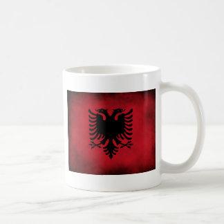 [Högkvalitativ] albansk flagga för Grunge, Kaffemugg