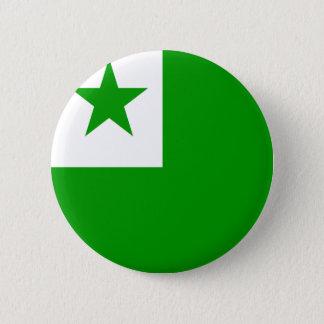 Högkvalitativ flagga för Esperanto Standard Knapp Rund 5.7 Cm