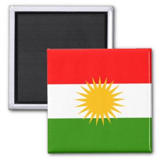 Högkvalitativ flagga för Kurdistan Magnet