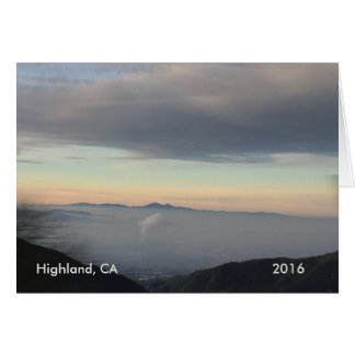 Högland från bästa av berglandskapkortet hälsningskort
