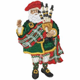 Höglands- jultomten broderad track jacka i fleece