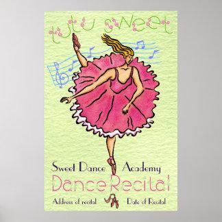 Högläsning för dans för affischTutu söt Poster