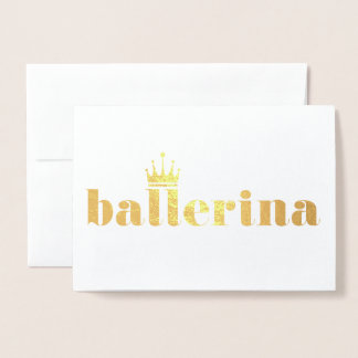 Högläsning för drottningBallerinadans Folierat Kort