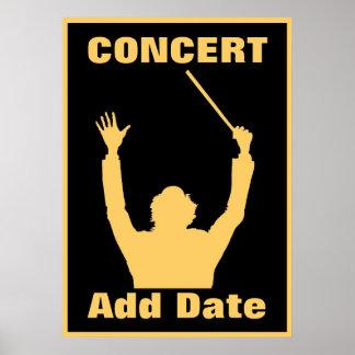 Högläsningen konsertaffisch daterar poster