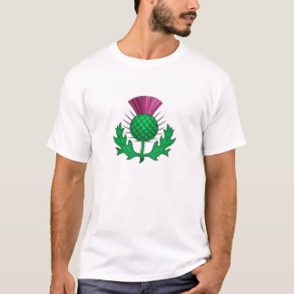 Hogmanay Thistle Skottland Tee Shirt