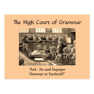 Högre domstol av grammatik - vykort