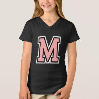 Högskola för Monogram för brev M initial T-shirt