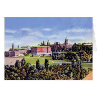 Högskola för Worcester Massachusetts heligakor Hälsningskort