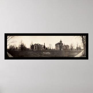 Högskola i det Naperville fotoet 1913 Poster
