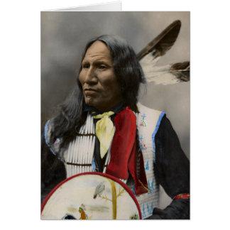Högsta strejkor med näsan, Oglala Sioux 1899 Hälsningskort