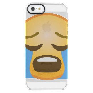 Högt gråta Emoji Clear iPhone SE/5/5s Skal