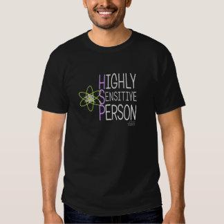 Högt känslig person på den mörka skjortan tröjor
