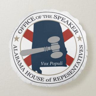 Högtalare av det Alabama representanthuset Rund Kudde