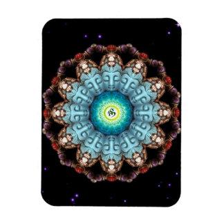 Högvärdig Flexi för turkosBuddha Om Mandala magnet