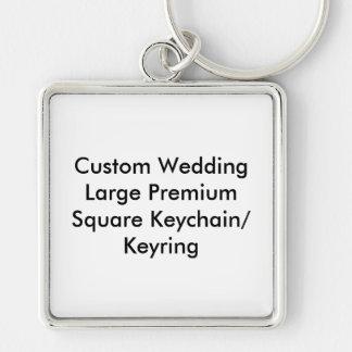 Högvärdig personligt bröllp (v) kvadrerar den nyckelringar