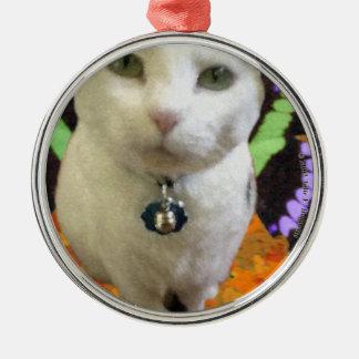 Högvärdig rundaprydnad för felik katt julgransprydnad metall
