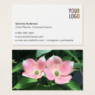 Högvärdig visitkortmall med fotoet & logotypen visitkort