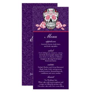 Högvärdigt damastast kort 4x9.25 för meny för 10,2 x 23,5 cm inbjudningskort