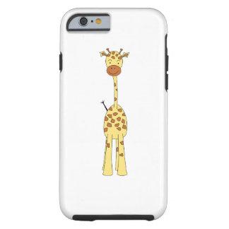 Högväxt gullig giraff. TecknadAnimal. Tough iPhone 6 Skal