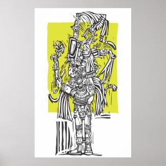 Högväxt Maya Affisch