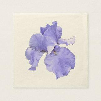 Högväxt skäggig purpurfärgad Iris Papper Servett