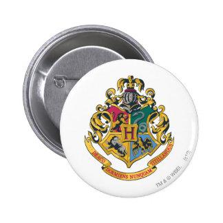Hogwarts Crest Full Color Button