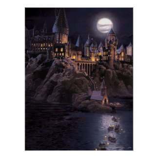 Hogwarts fartyg som rockerar print