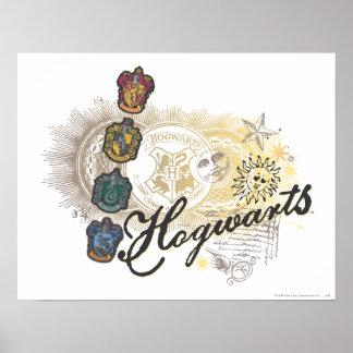 Hogwarts logotyp och professorer 2 posters