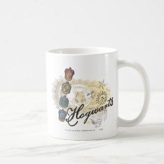 Hogwarts logotyp och professorer 2 kaffe koppar
