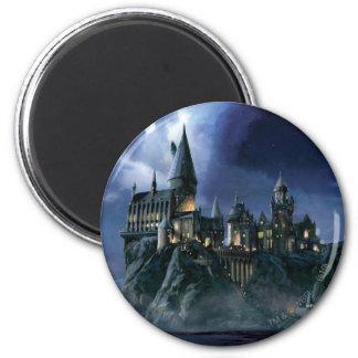 Hogwarts slott på natten kylskåpsnagnet