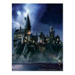 Hogwarts slott på natten vykort