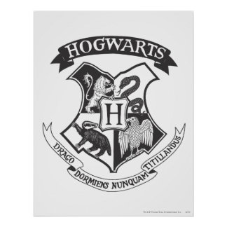 Hogwarts vapensköld 2 posters