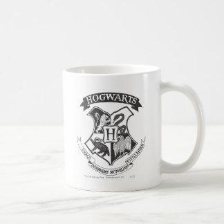 Hogwarts vapensköld 2 vit mugg